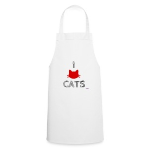 i love cats (black) - Grembiule da cucina