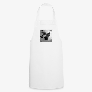 Black white roses on canvas - Cooking Apron