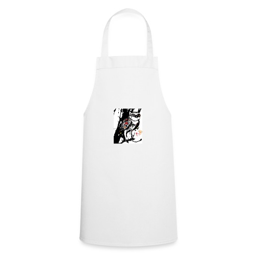 Fire Burrowing Owl with monocle - Cooking Apron