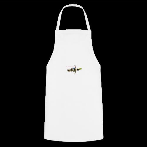 Femme brune sur pillier - Tablier de cuisine