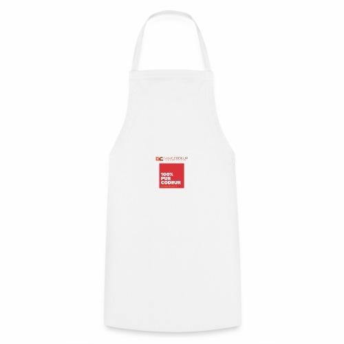 100% PUR CODEUR - CARRE ROUGE - Tablier de cuisine