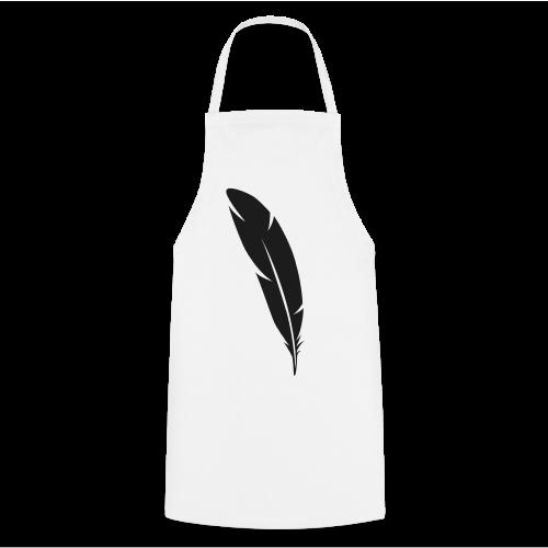 Plume ombre noire - Tablier de cuisine