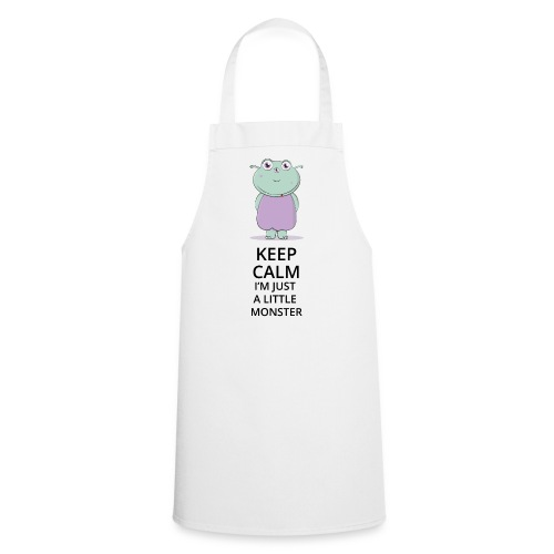 Keep Calm - Little Monster - Petit Monstre - Tablier de cuisine