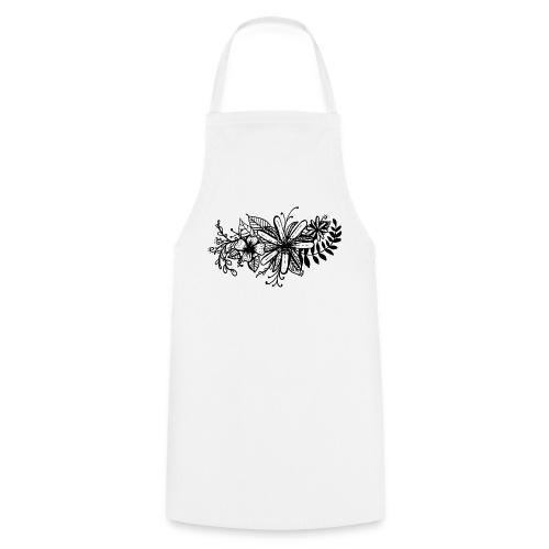 Black Flower Artwork - Cooking Apron