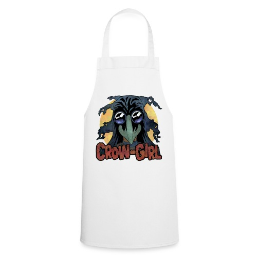 Crow Girl stare - Cooking Apron