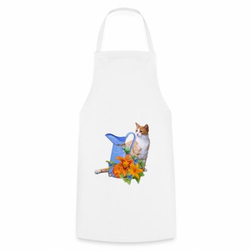 CAT AND FLOWERS - Grembiule da cucina