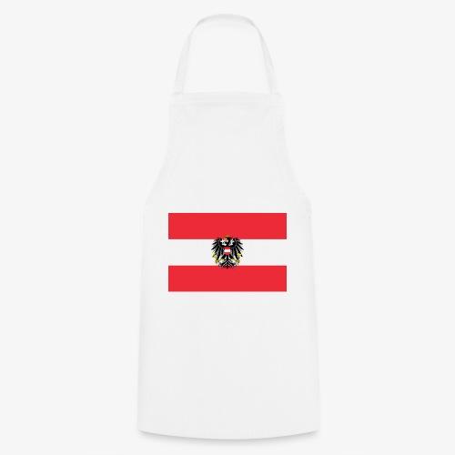 Österreichflagge mit Wappen - Kochschürze