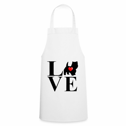 westie love design - Cooking Apron