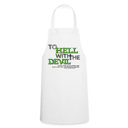 to hell with the devil grün - Kochschürze