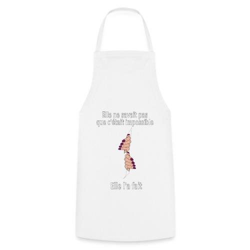 Impossible et fait Femme mains Fond Sombre - Tablier de cuisine