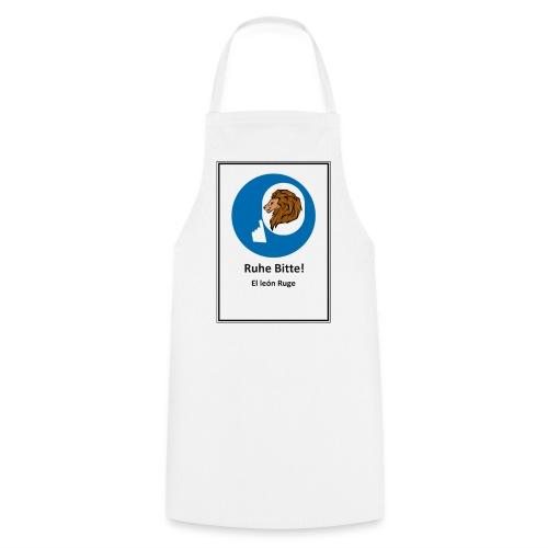 el leon ruge- ruhe bitte - Delantal de cocina
