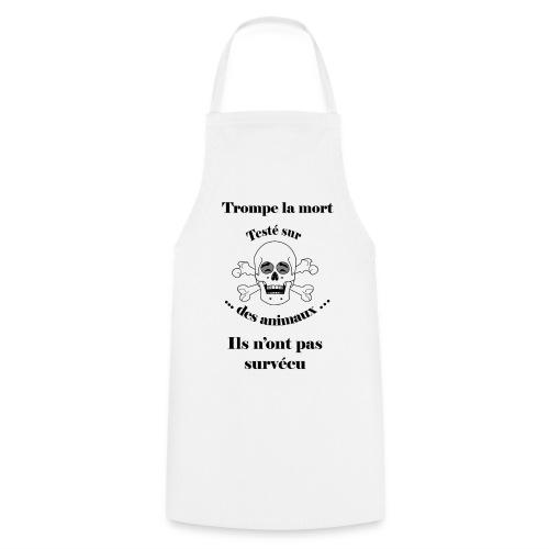 Trompe la mort «rieur» Test animal FC - Tablier de cuisine