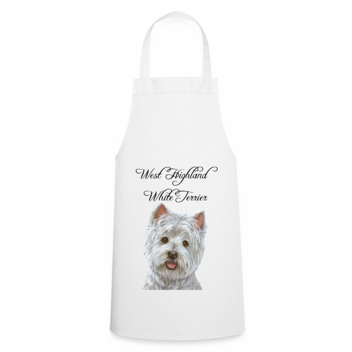 west highland white terrier design - Cooking Apron