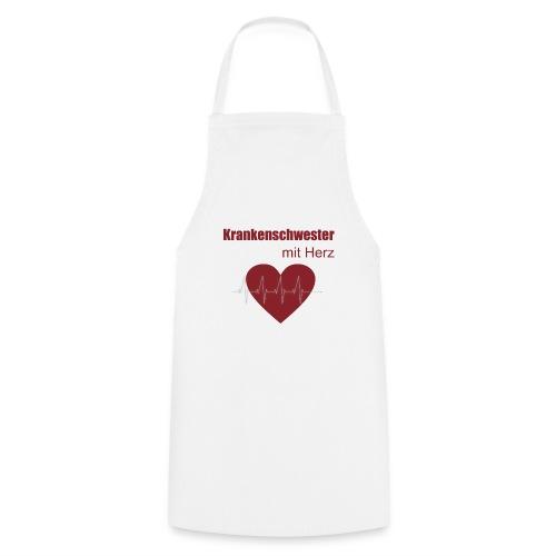 Krankenschwester mit Herz - Kochschürze