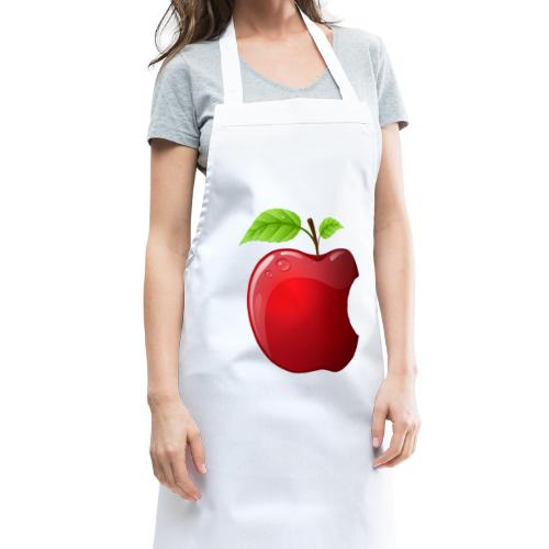 Symbol roter Apfel mit 2 Blätter glänzend - Kochschürze