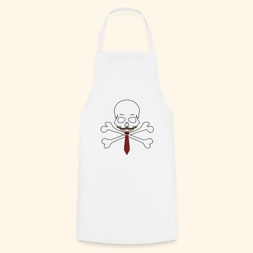Realistischer Totenkopf mit Bart - Kochschürze