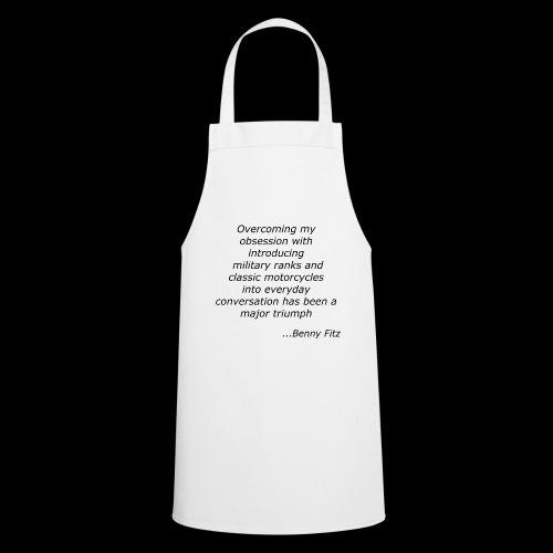 BENNY FITZ - MOTORCYCLE JOKE / QUOTE - Cooking Apron