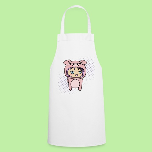 Super kawaii anime kid in piglet outfit - Cooking Apron