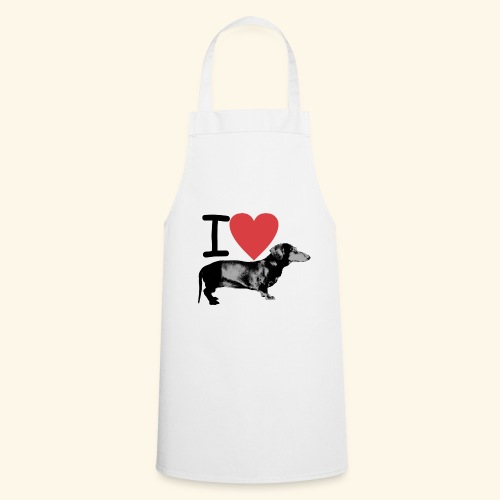 Pakopaka - I Love Dachshunds - Kochschürze