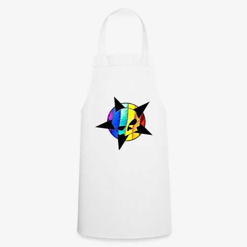 ranbow skull - Cooking Apron