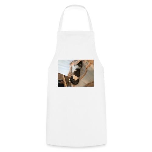 Die Katze entspannt - Kochschürze