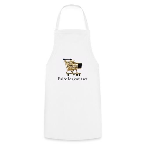Edler goldener Einkaufswagen mit Schriftzug - Kochschürze