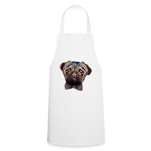 Pug with bow tie - Cooking Apron