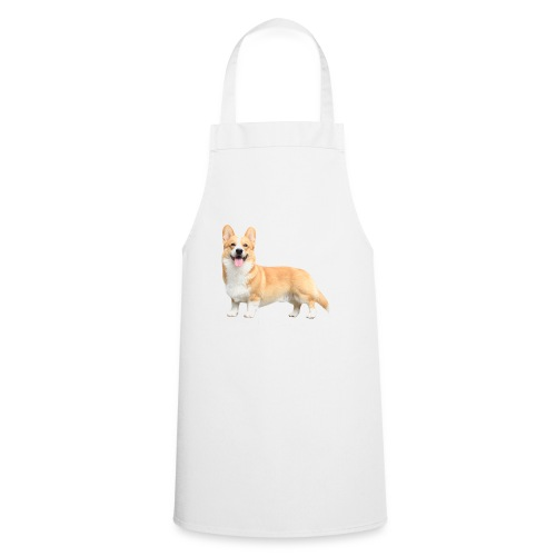 Topi the Corgi - White text - Cooking Apron