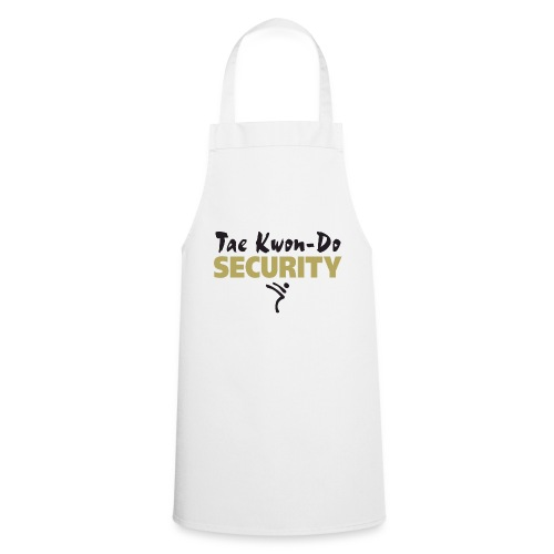 Taekwondo Security black & gold print - Cooking Apron