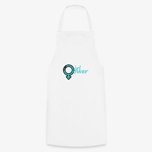 bleu girl pwer - Tablier de cuisine