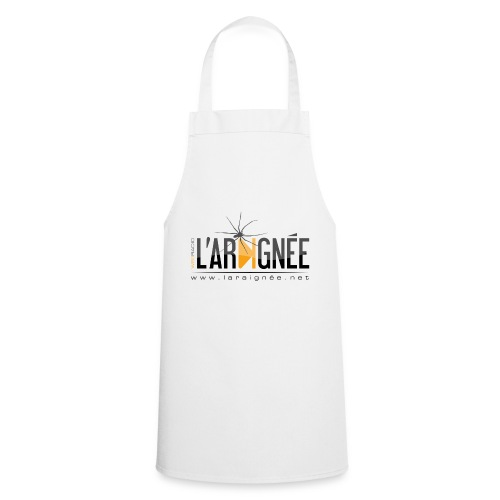 L'ARAIGNÉE, logo noir - Tablier de cuisine