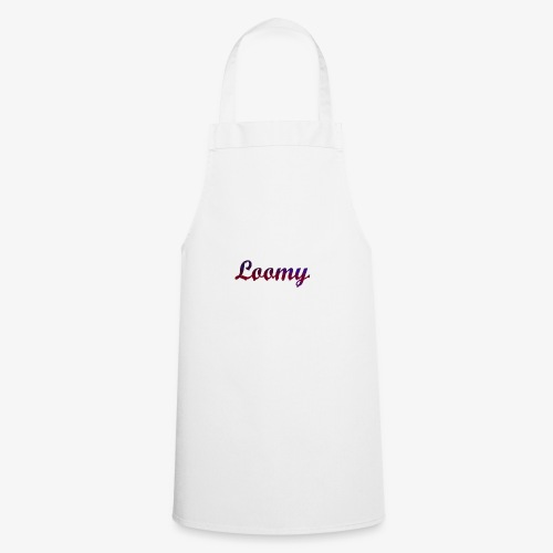 Loomy_Text_Red_And_Blue - Cooking Apron
