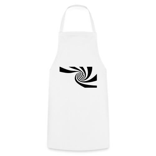 Schwarz - weiße Spirale - Kochschürze