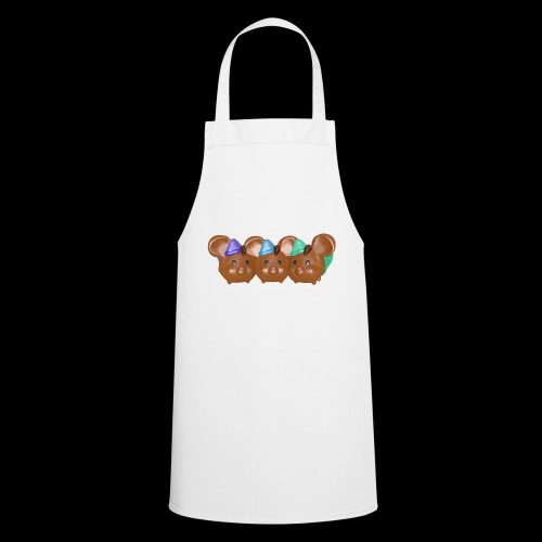 trio souris brunes garcons - Tablier de cuisine