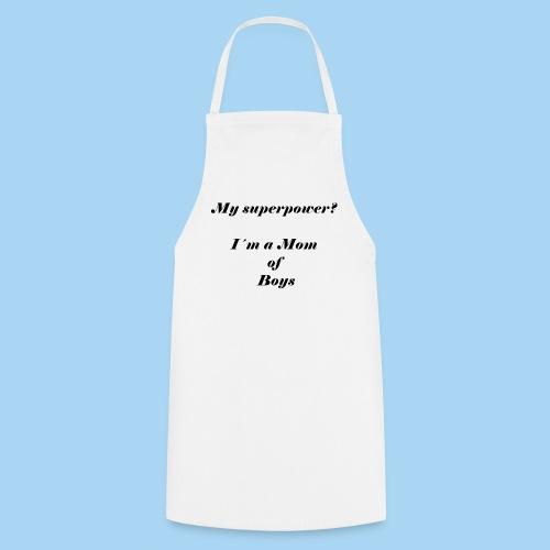 superpower mom - zwart - Keukenschort