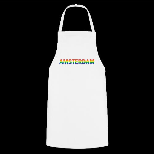 Amsterdam in gay pride rainbow kleuren - Keukenschort