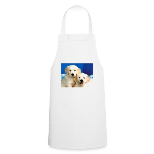 Golden labs pups - Cooking Apron