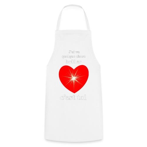 Coeur brillant ...amoureux ou inspiré FS - Tablier de cuisine