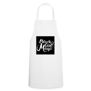 Black Girl Magic 1 White Text - Cooking Apron