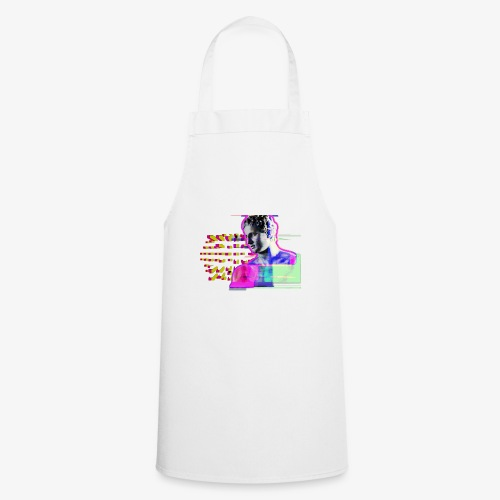 glitch man - Delantal de cocina