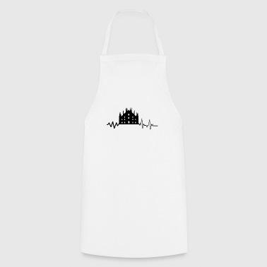 Heartbeat Milan -Shirt Gift Italy Fashion - Cooking Apron