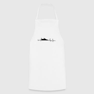 Heartbeat Edinburgh T-Shirt Gift Scotland - Cooking Apron