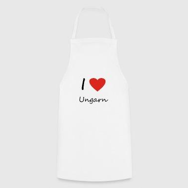 Ungarn Herz Geschenk Idee - Kochschürze