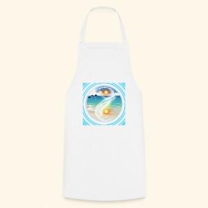 Yin Yang beach scene white - Cooking Apron