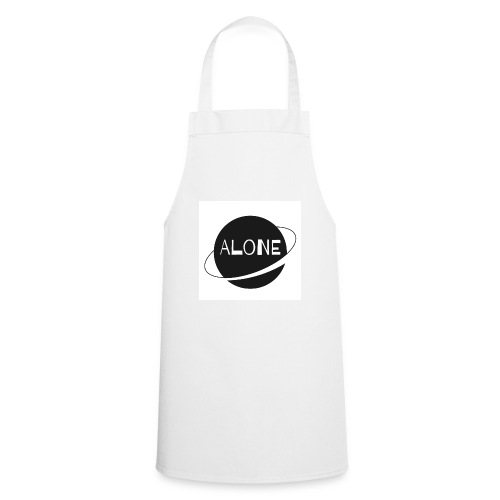 Alone planet white background - Cooking Apron