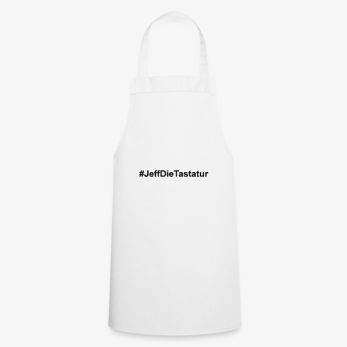 hashtag jeffdietastatur schwarz - Kochschürze
