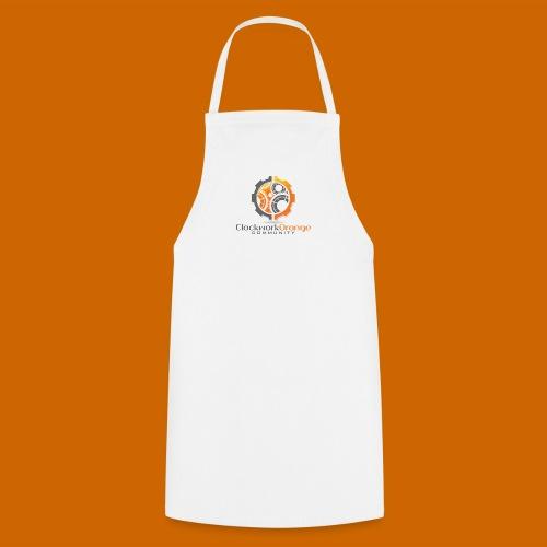 Clockwork-Orange Community Logo mit Schrift - Kochschürze