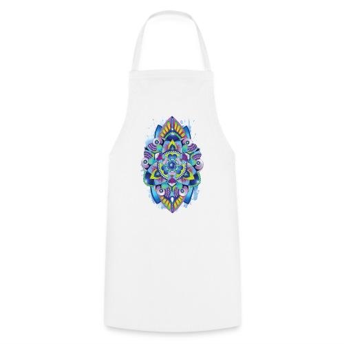 Zentangle watercolour Splash Mandala Design - Cooking Apron