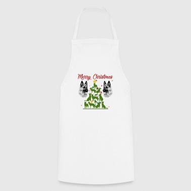 Owczarek niemiecki Choinka Boże Narodzenie Shirt - Fartuch kuchenny