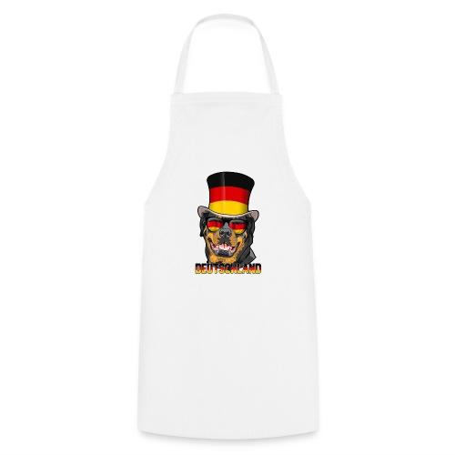 Cooler Deutschland Rottweiler mit Hut und Brille - Kochschürze